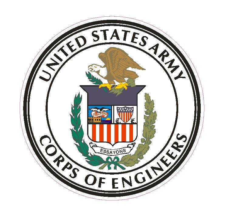 U S Army corps of Engineers Vinyl Sticker R15 - Winter Park Products