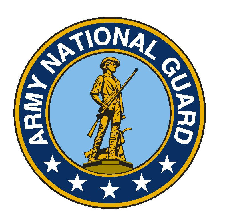 Army National Guard Vinyl Sticker R318 - Winter Park Products