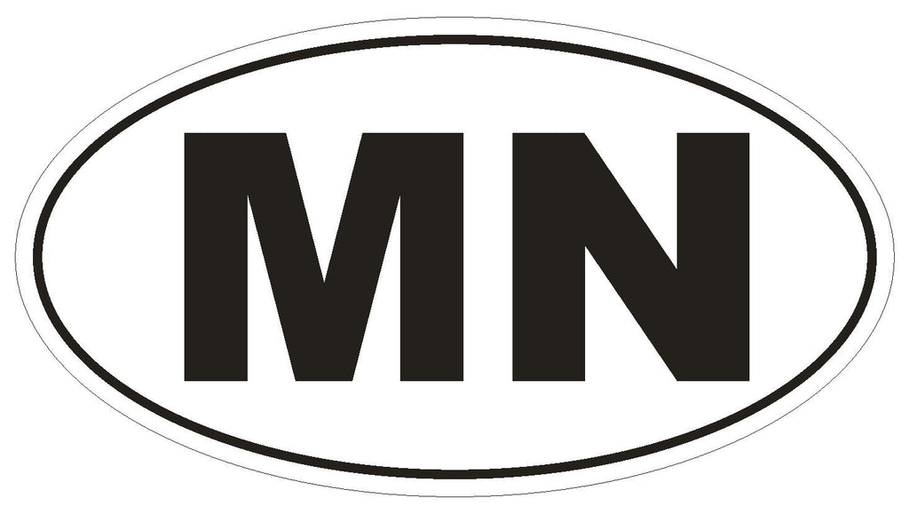 MN Minnesota Euro Oval Bumper Sticker or Helmet Sticker D469 Mongolia Country Code - Winter Park Products