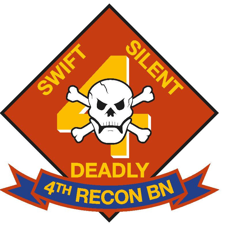4th Recon Battalion USMC Vinyl Sticker R270 - Winter Park Products