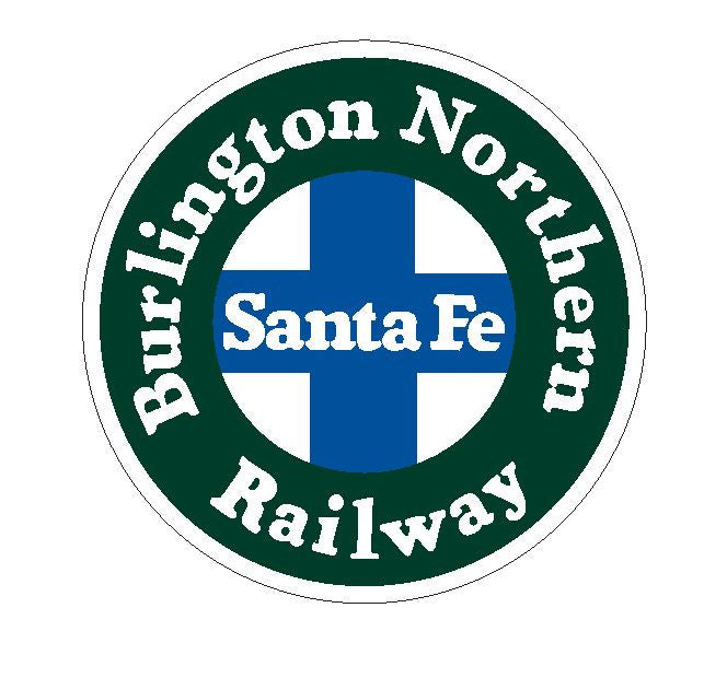 Burlington Northern Railway Railroad Santa Fe Vinyl Sticker R380 - Winter Park Products