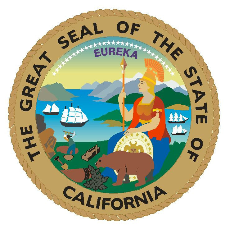 California State Seal Vinyl Sticker R7 - Winter Park Products