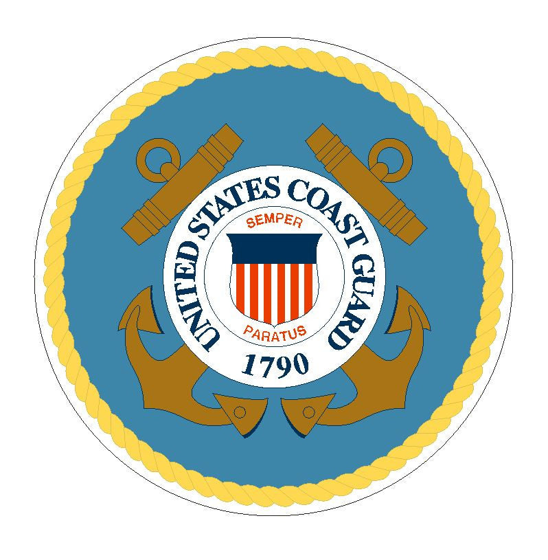 United States Coast Guard Vinyl Sticker R13 - Winter Park Products