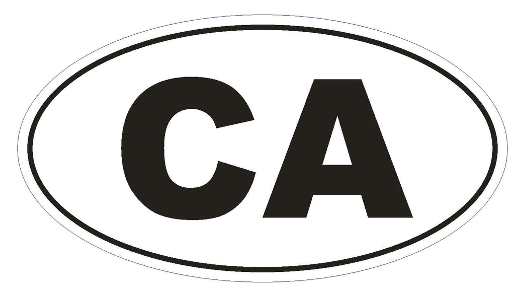 CA California Euro Oval Bumper Sticker or Helmet Sticker D450 Canada Country Code - Winter Park Products