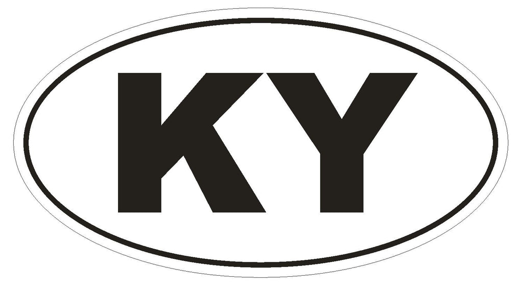 KY Kentucky Euro Oval Bumper Sticker or Helmet Sticker D463 Cayman Islands Country Code - Winter Park Products