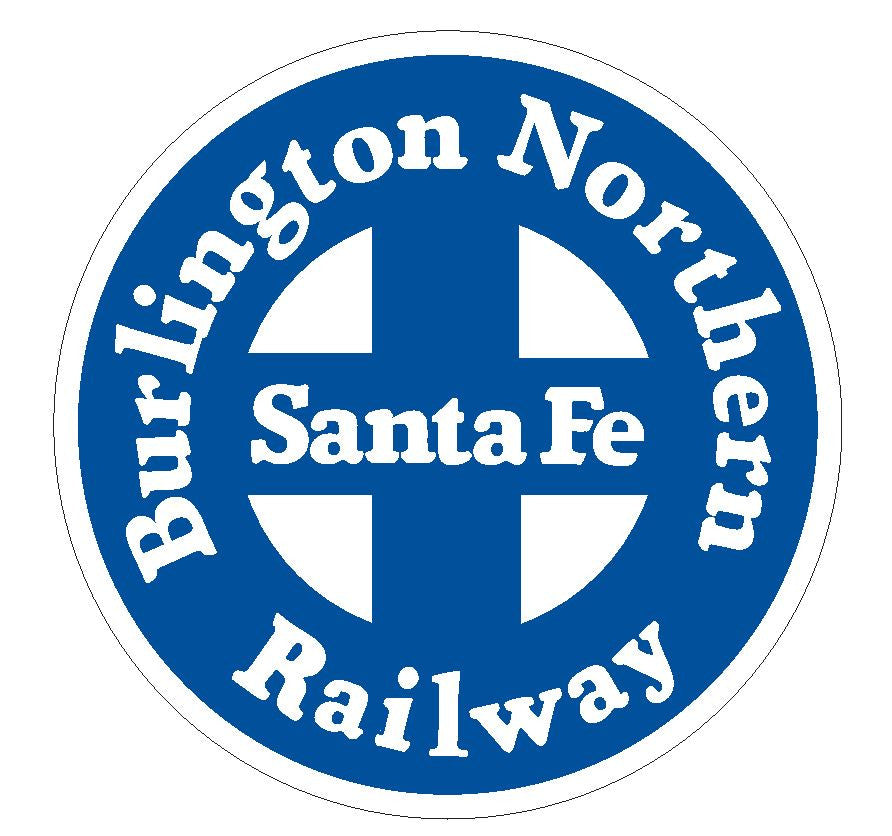 Burlington Northern Railway Railroad Blue  Sticker R580 - Winter Park Products