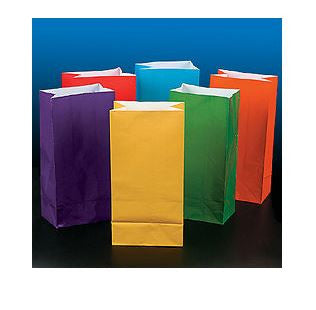 Assorted Bright Color Paper Bags AS LOW AS 26¢ ea - Winter Park Products