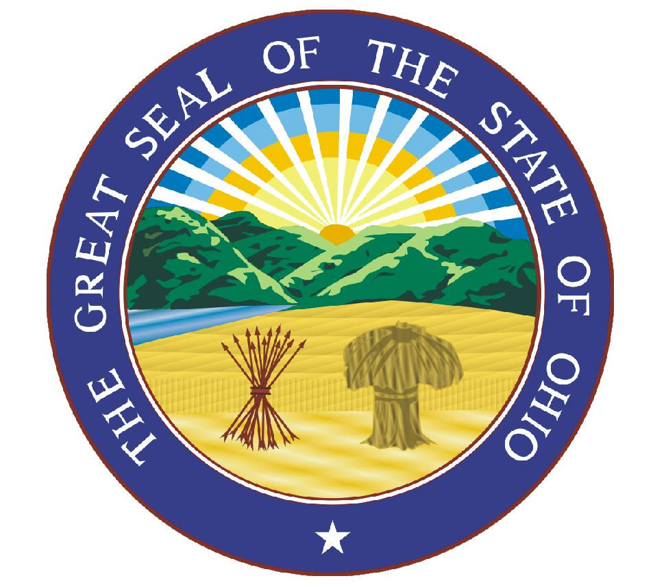 Ohio State Seal Vinyl Sticker R552 - Winter Park Products