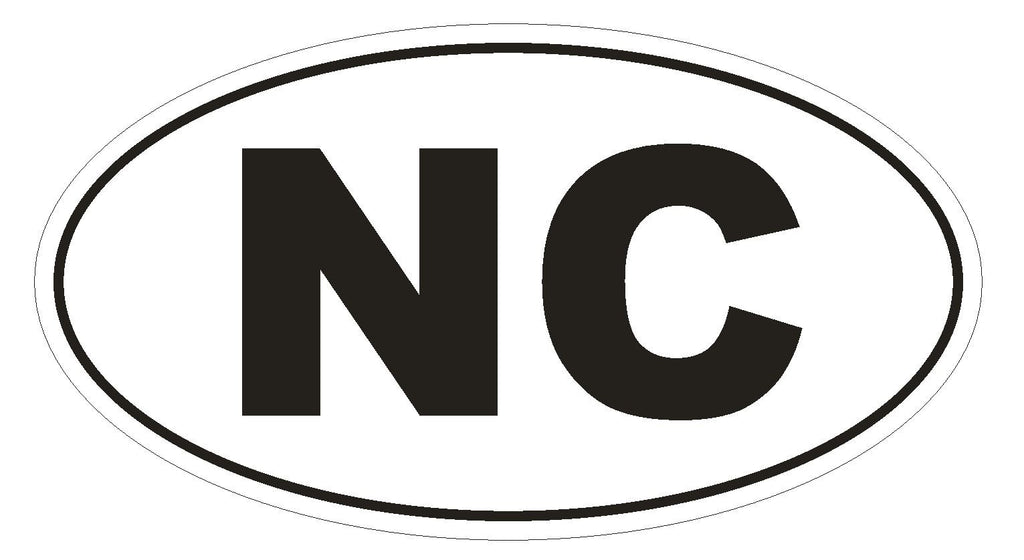 NC North Carolina Euro Oval Bumper Sticker or Helmet Sticker D479 New Caledonia Country Code - Winter Park Products