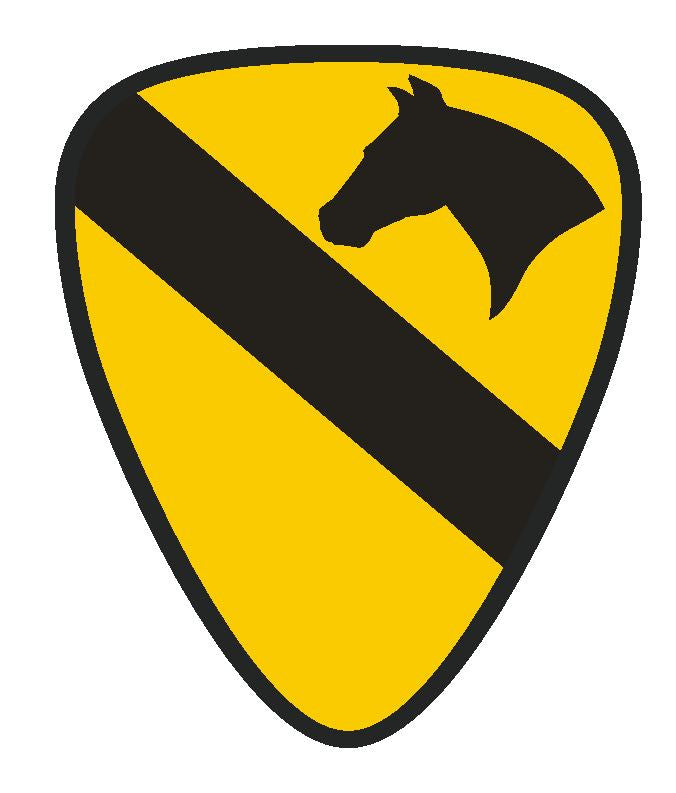Army 1st Cavalry Vinyl Sticker R176 - Winter Park Products