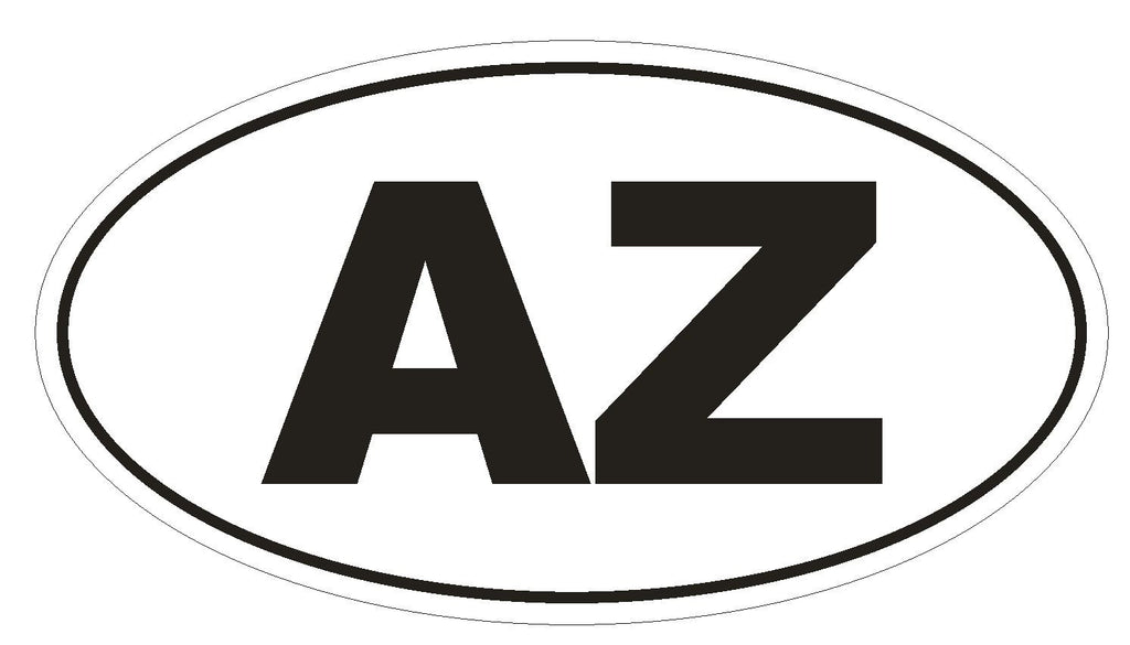 AZ Arizona Euro Oval Bumper Sticker or Helmet Sticker D448 Azerbaijan - Winter Park Products