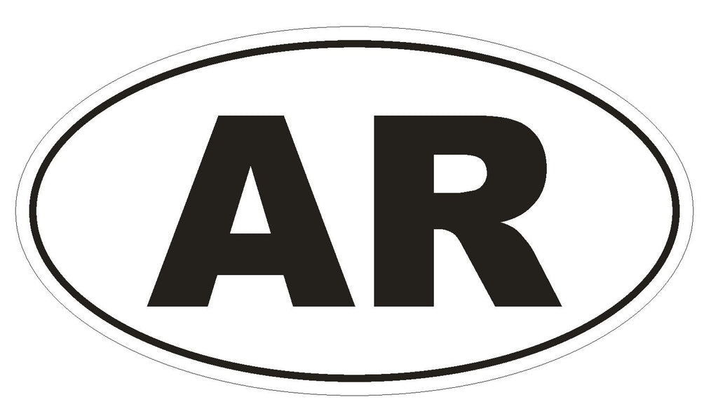 AR Arkansas Euro Oval Bumper Sticker or Helmet Sticker D449 Argentina Country Code - Winter Park Products