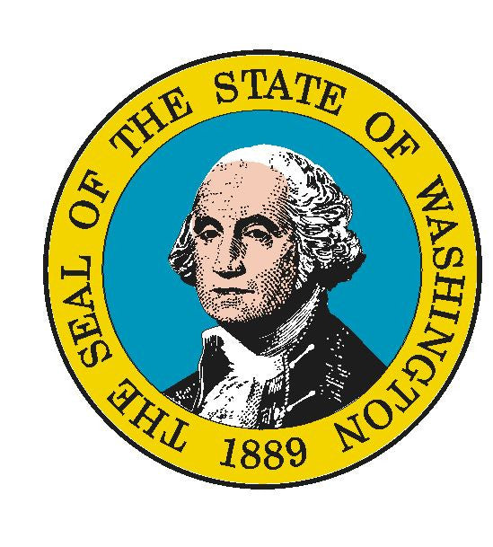 Washington State Seal Vinyl Sticker R32 - Winter Park Products
