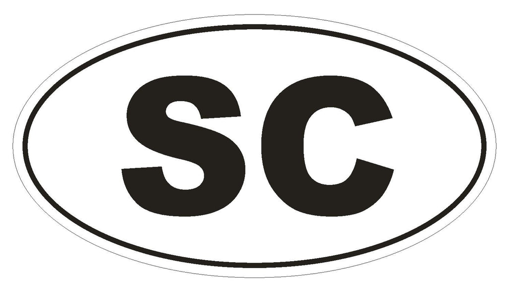 SC South Carolina Euro Oval Bumper Sticker or Helmet Sticker D487 Seychelles Country Code - Winter Park Products