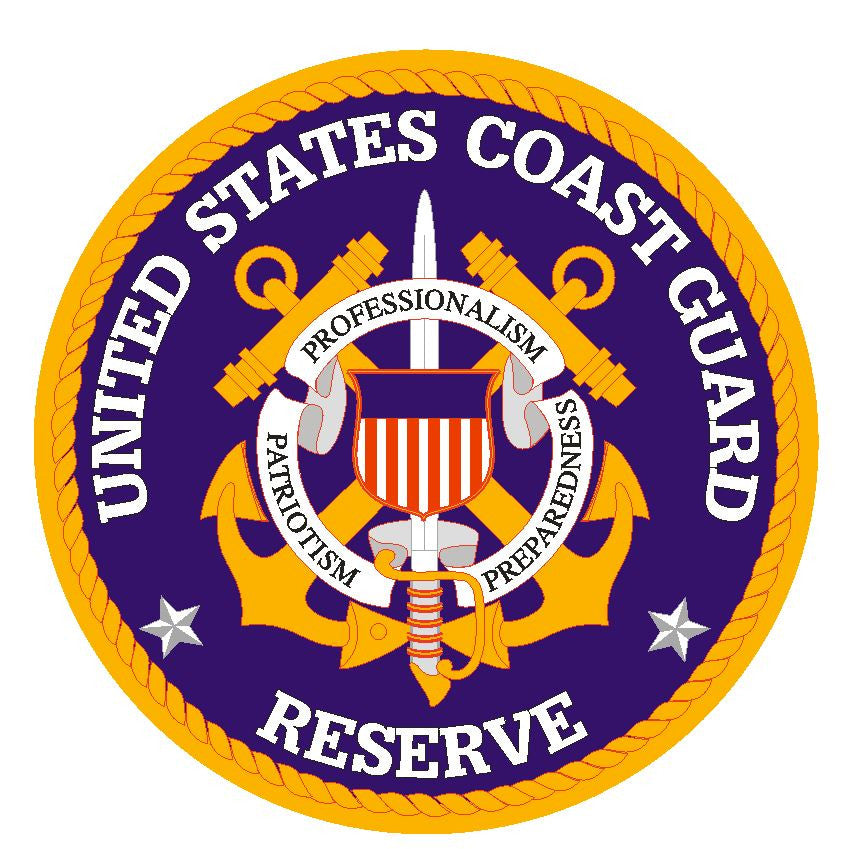 United States Coast Guard Reserve Vinyl Sticker R14 - Winter Park Products