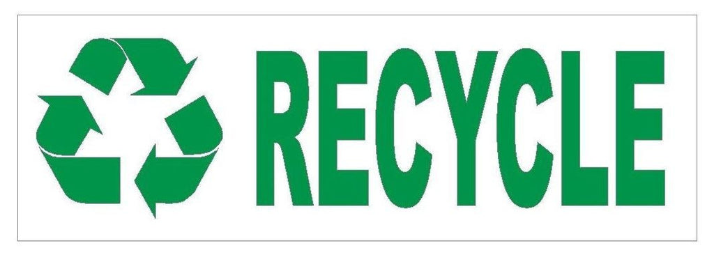 Recycle Bumper Sticker or Helmet Sticker D404 Go Green Save the earth - Winter Park Products