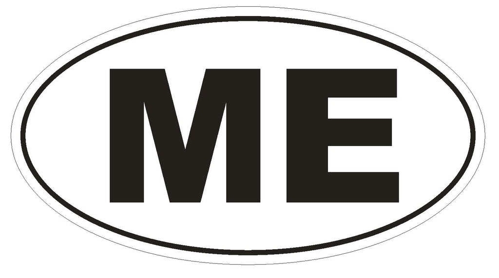 ME Maine Euro Oval Bumper Sticker or Helmet Sticker D465 Montenegro Country Code - Winter Park Products