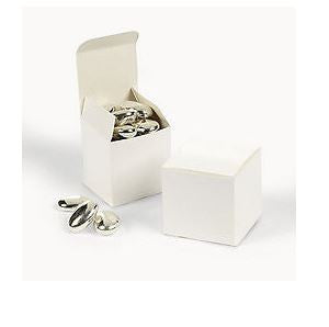 "White 2"" Square Favor Boxes AS LOW AS 19¢ EACH #32614 - Winter Park Products"