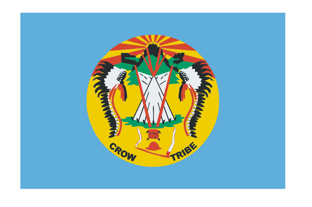 Crow Nation Vinyl Flag Sticker F617 - Winter Park Products
