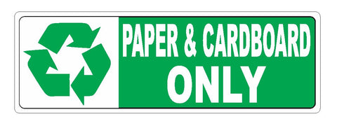 Recycle Paper & Cardboard Only Sticker D3719
