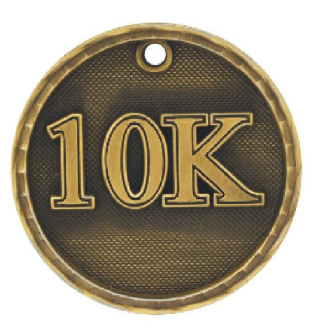 10K Running Medal Award Trophy Team Sports W/Free Lanyard Runner Race 3D220 - Winter Park Products