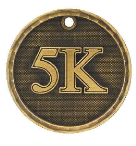 5K Running Medal Award Trophy Team Sports W/Free Lanyard Runner Race 3D221 - Winter Park Products