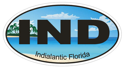 Indianapolis Indiana Oval Bumper Sticker or Helmet Sticker D1664 Euro Oval