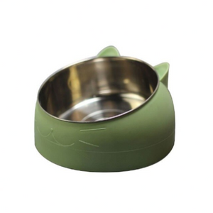 Anti-Vomit, Spill Resistant, Stainless Steel Modern Cat Bowl (20% OFF) - Pawsitive Products