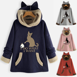 Pull Over Cat Winter Hoodie/Pull Over - Pawsitive Products
