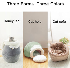 CozyCave- 3 in 1 Foldable Cat Cushion - Pawsitive Products