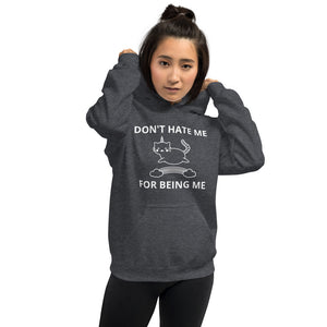 Don't Hate Me Caticorn Hoodie - Pawsitive Products