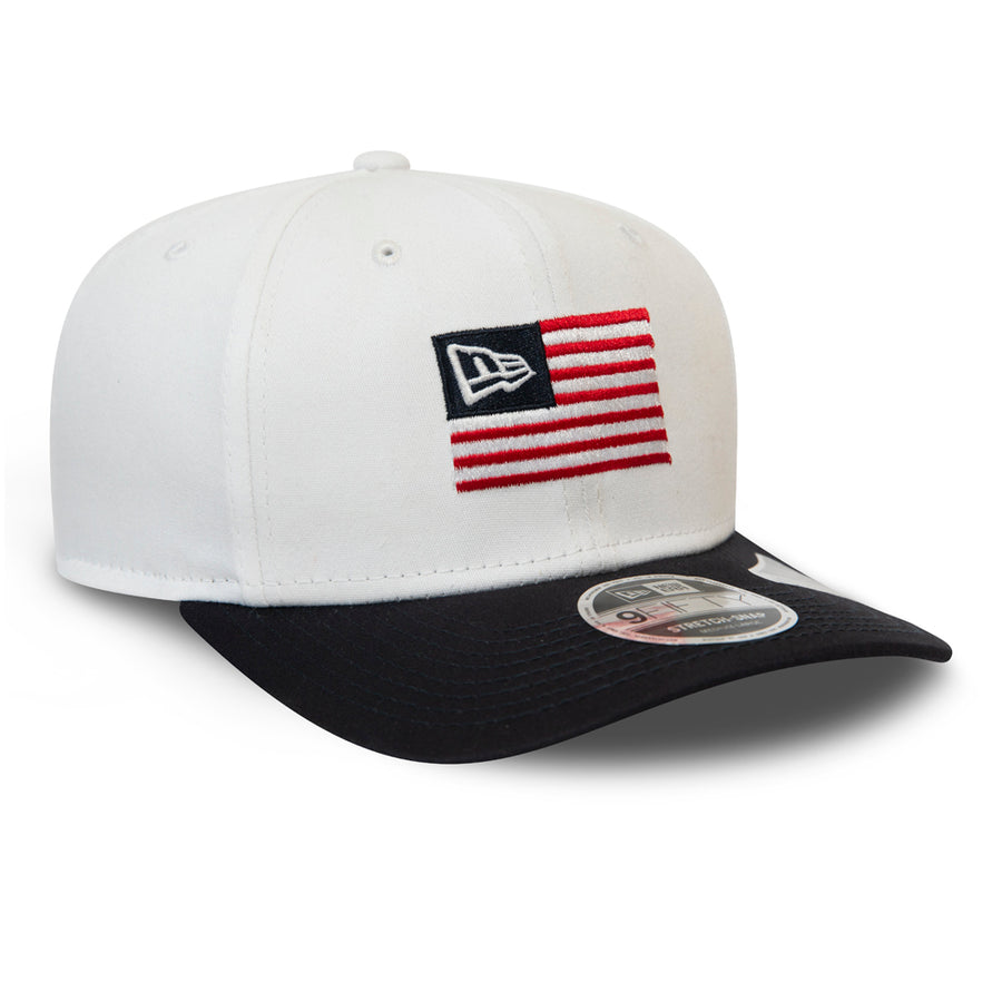 New Era 9Fifty Stretch Snap Flagged White/Navy Cap
