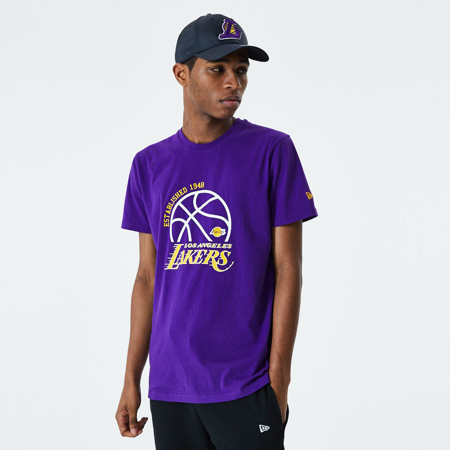 Los Angeles Dodgers NBA Basketball Graphic Purple Tee