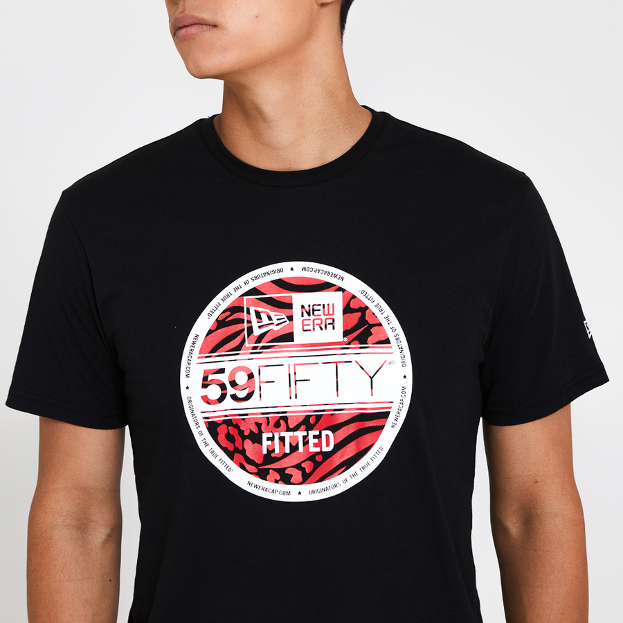 New Era 59Fifty Essential Visor Sticker Black Tee