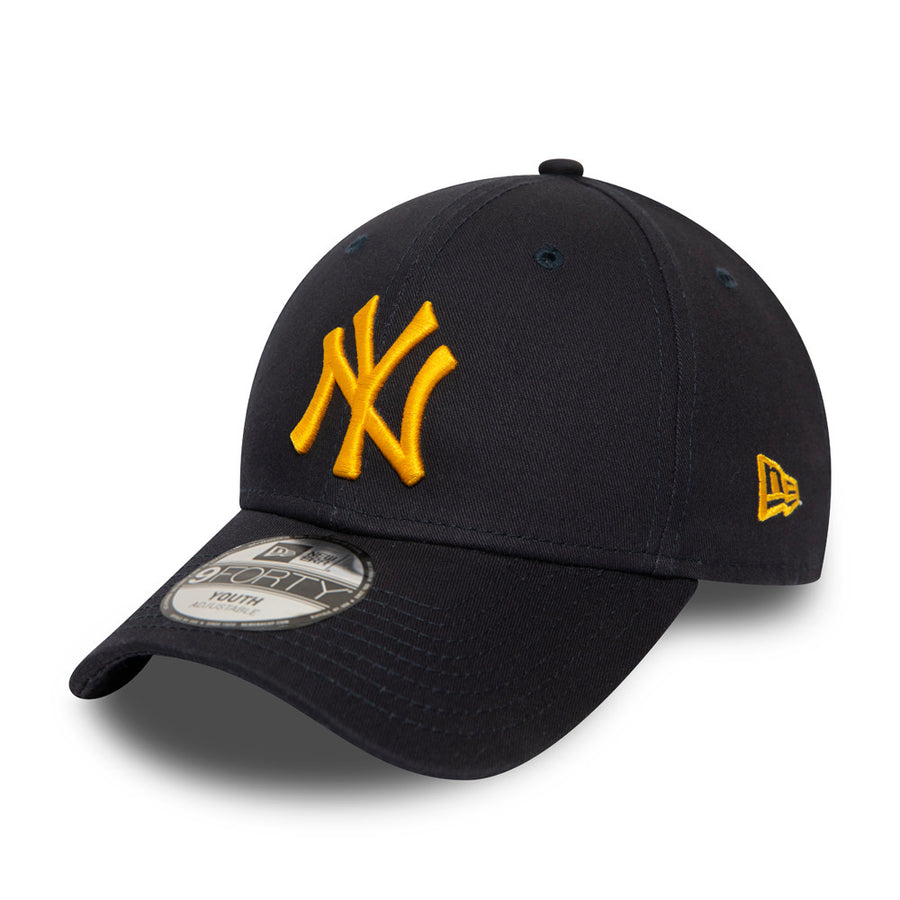 New York Yankees 9Forty Kids League Essential Navy/Yellow Cap