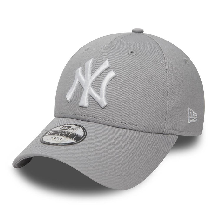 New York Yankees MLB Kids League Basic Grey/White Cap