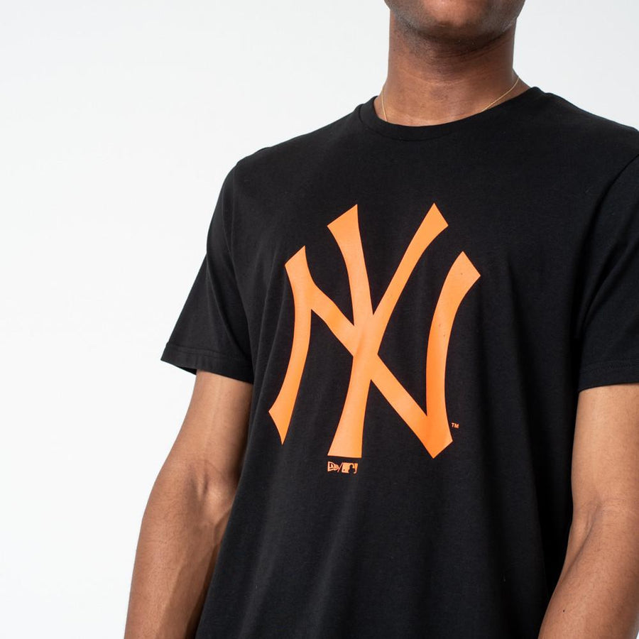 New York Yankees MLB Seasonal Team Logo Black/Orange Tee