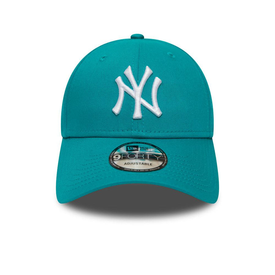 New York Yankees 9Forty League Essential Teal/White Cap