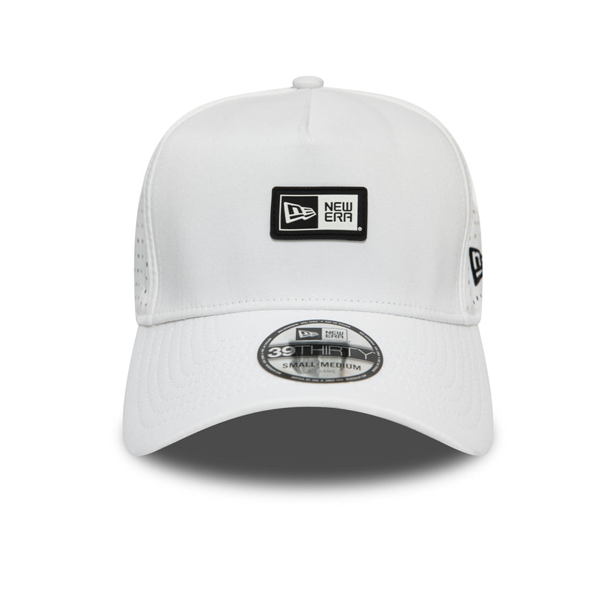 New Era 39Thirty Poly Aframe White/Black Cap