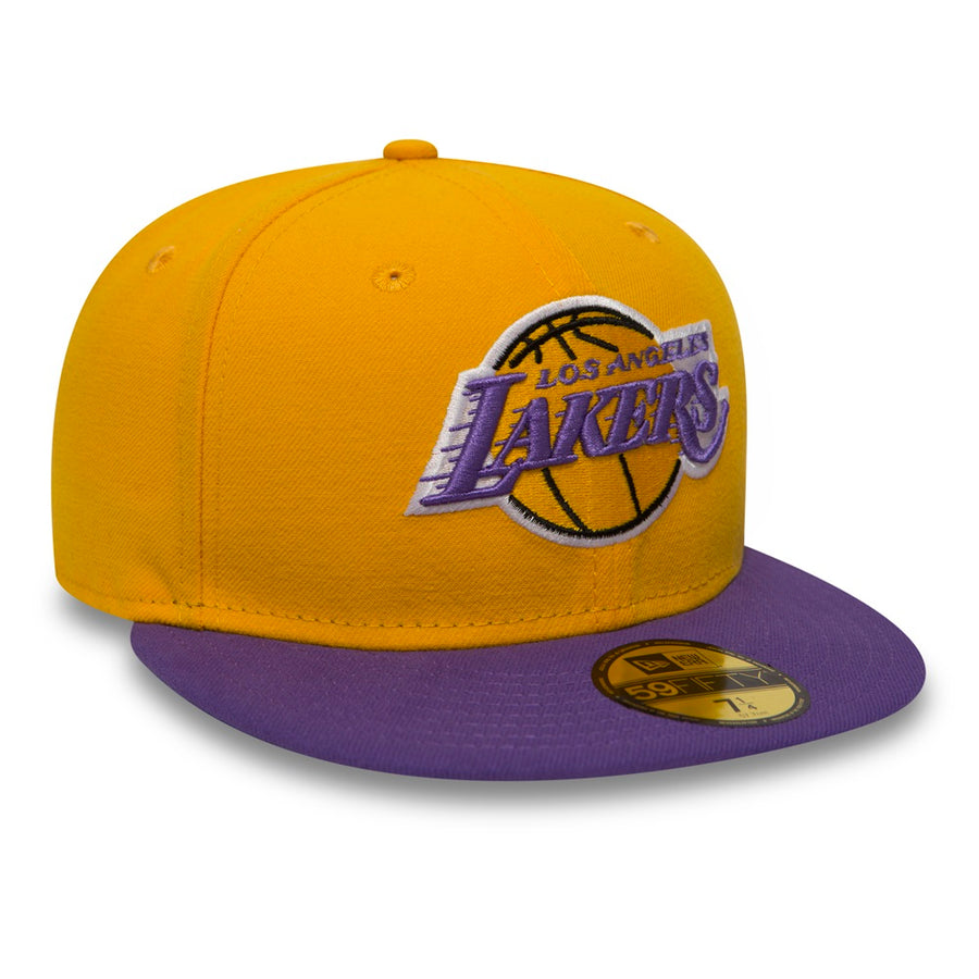 Los Angeles Lakers 59Fifty NBA Basic Yellow/Purple Cap