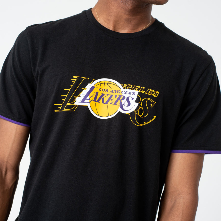 Los Angeles Lakers NBA Graphic Black Tee