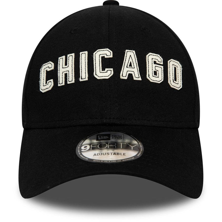 Chicago Bulls 9Forty NBA Felt Script Black/White Cap
