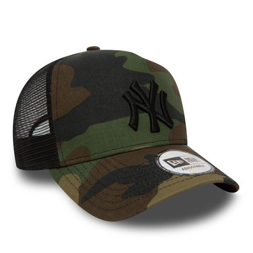 New York Yankees Trucker Clean II Camo/Black Cap