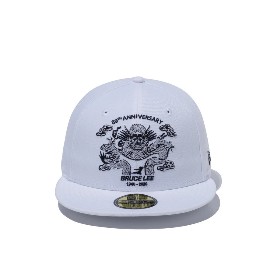 Bruce Lee 59Fifty 80Th Dragon White/Black Cap