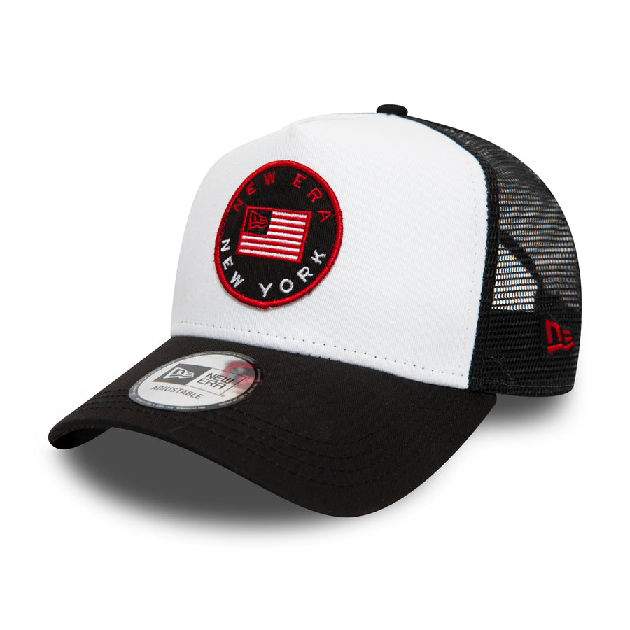 New Era Trucker Flag White/Navy Cap