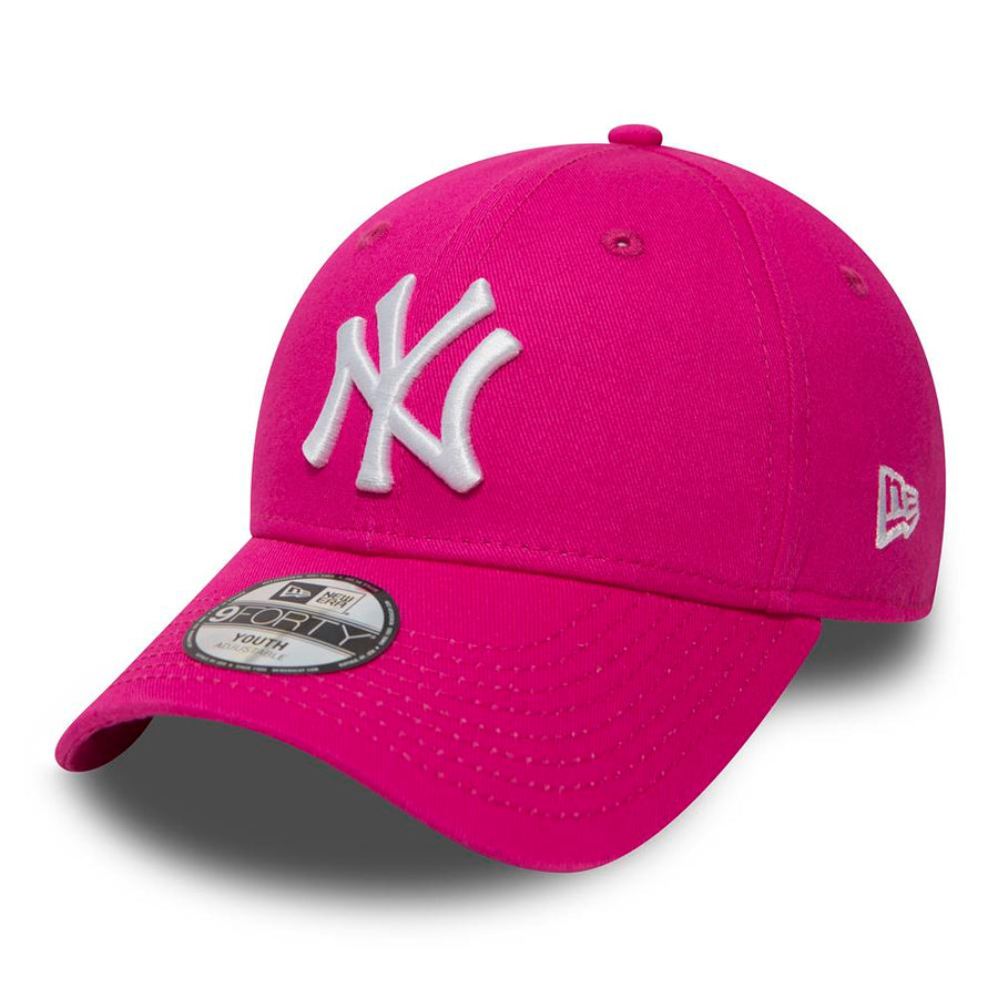 New York Yankees 9Forty MLB League Basic Kids Hot Pink/White Cap