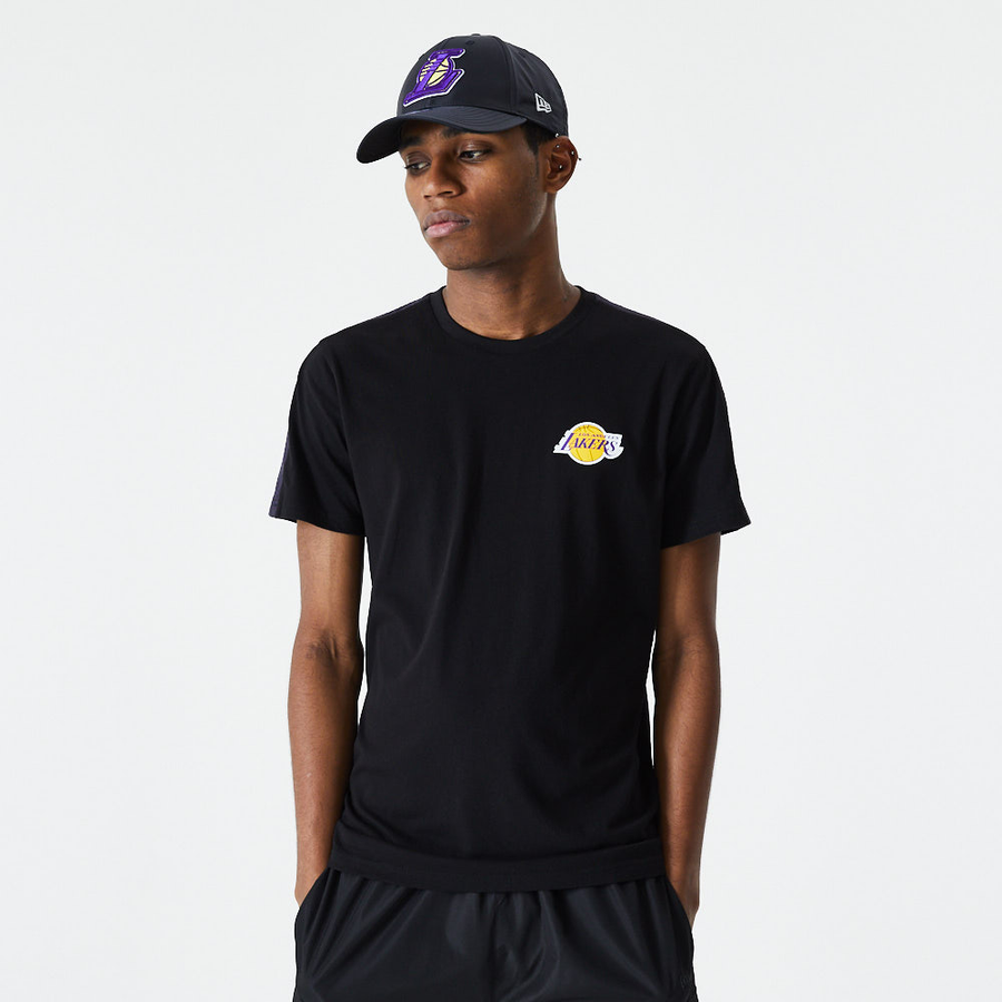 Los Angeles Lakers NBA Ripstop Overlay Black Tee