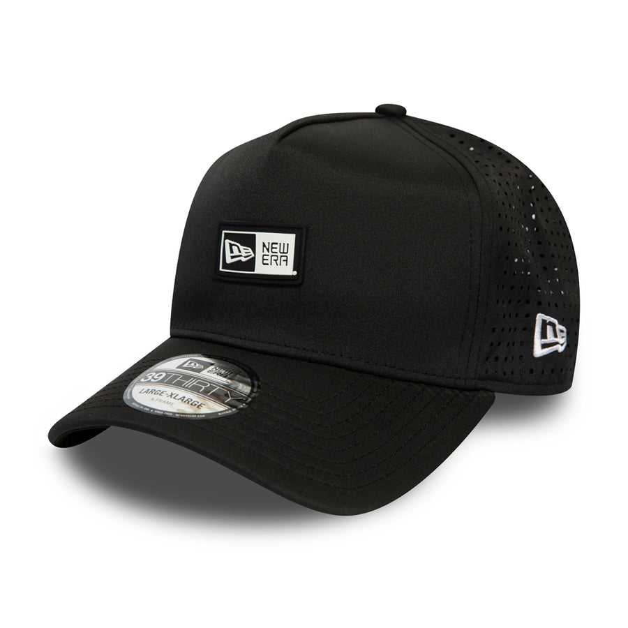 New Era 39Thirty Poly Aframe Black/White Cap
