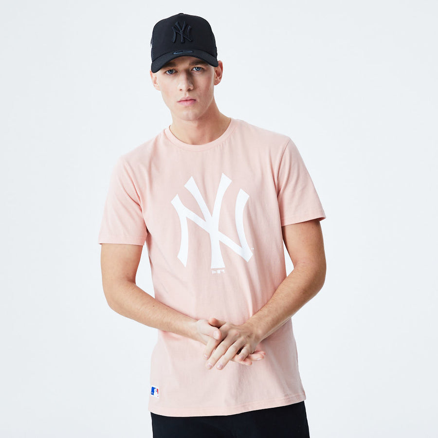 New York Yankees MLB Seasonal Team Logo Pink Tee