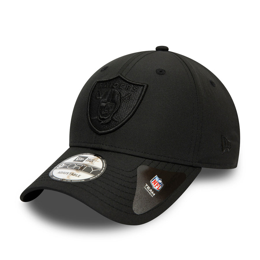 Oakland Raiders 9Forty Tonal Nylon Black Cap